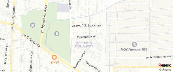 Орловская улица на карте Урус-мартана с номерами домов