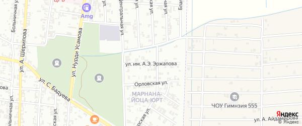 Обзорная улица на карте Урус-мартана с номерами домов