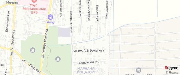 Башкирская улица на карте Урус-мартана с номерами домов