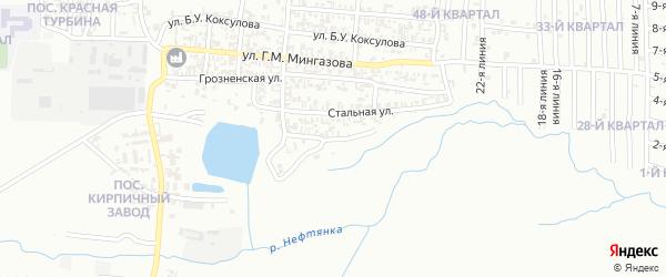 Каховская улица на карте Грозного с номерами домов