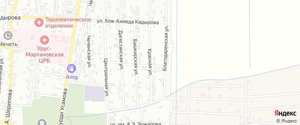 Красная улица на карте Урус-мартана с номерами домов