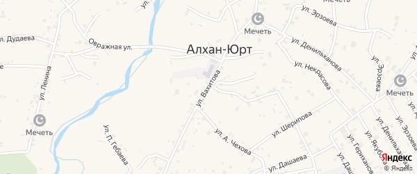 Улица А.Вахитова на карте села Алхан-Юрт с номерами домов
