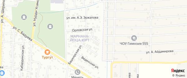 Шалинская улица на карте Урус-мартана с номерами домов