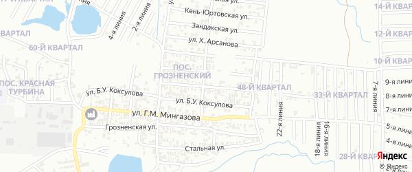 Камышинская улица на карте Грозного с номерами домов