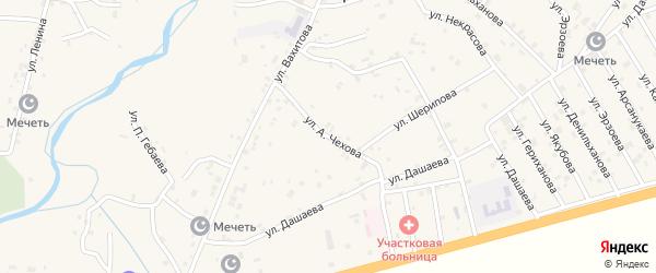 Улица А.Арсаева на карте села Алхан-Юрт с номерами домов