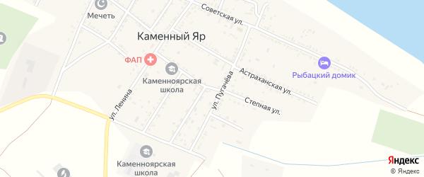 Астраханская улица на карте села Каменного Яра с номерами домов