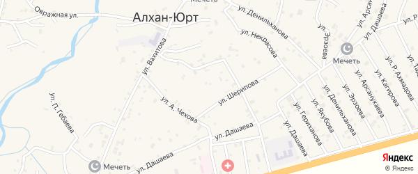 Улица Х.Нурадилова на карте села Алхан-Юрт с номерами домов