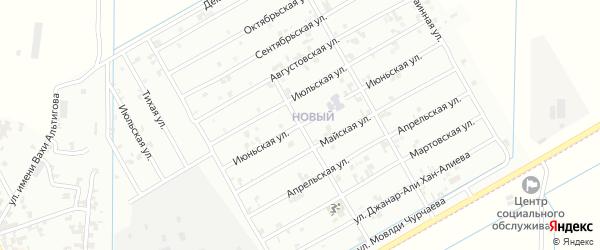 Июньская улица на карте Урус-мартана с номерами домов