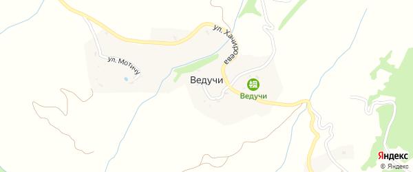 Улица Колхадой на карте села Ведучи с номерами домов