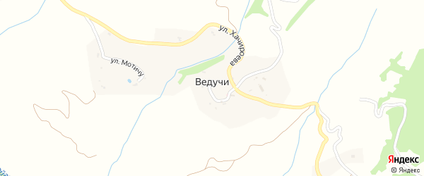 Улица Хачироева на карте села Ведучи с номерами домов