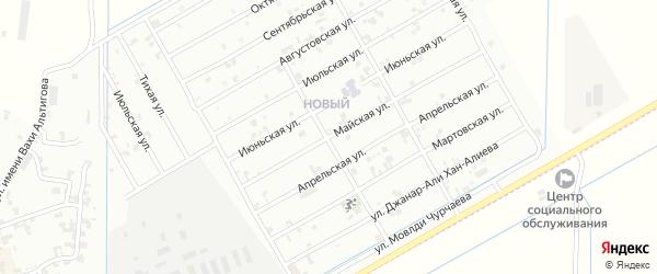 Майская улица на карте Урус-мартана с номерами домов