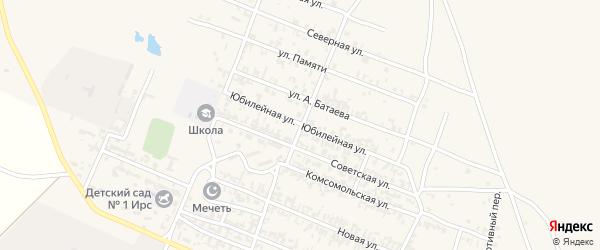 Юбилейная улица на карте Октябрьского села с номерами домов