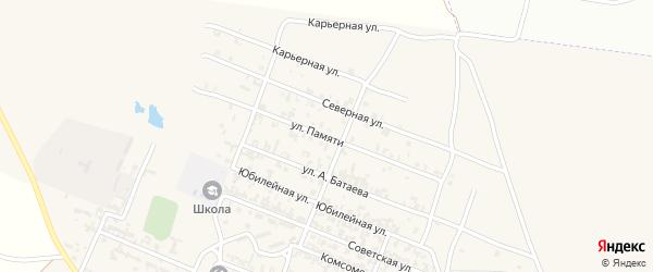 Степная улица на карте Октябрьского села с номерами домов