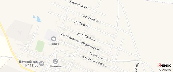 Улица Батаева на карте Октябрьского села с номерами домов