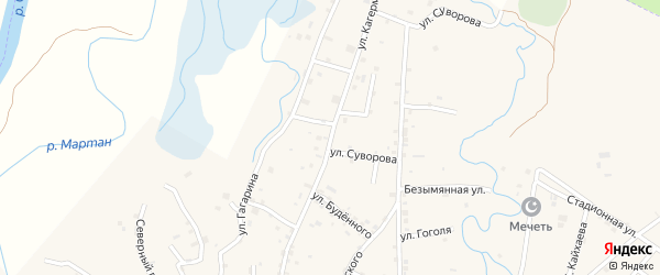 Улица Кагерманова на карте села Алхан-Юрт с номерами домов