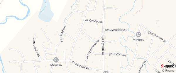 Улица им Буденного на карте Грозного с номерами домов