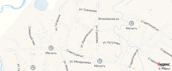 Улица Маяковского на карте села Алхан-Юрт с номерами домов