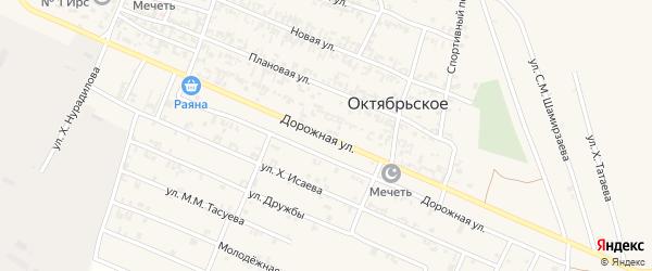 Дорожная улица на карте Грозного с номерами домов