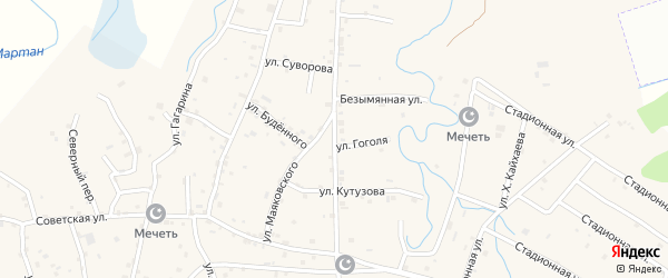 Улица Суворова на карте села Алхан-Юрт с номерами домов