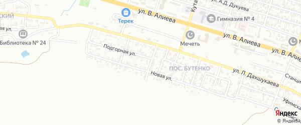 Аральская улица на карте Грозного с номерами домов