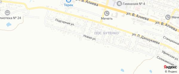 Новая улица на карте Грозного с номерами домов
