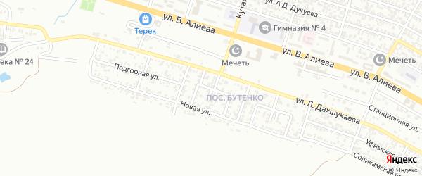 Новый 1-й переулок на карте Грозного с номерами домов