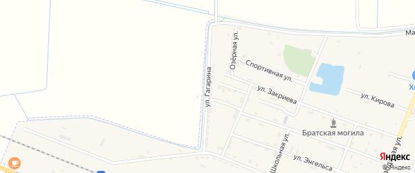 Улица Гагарина на карте Новотерского села с номерами домов