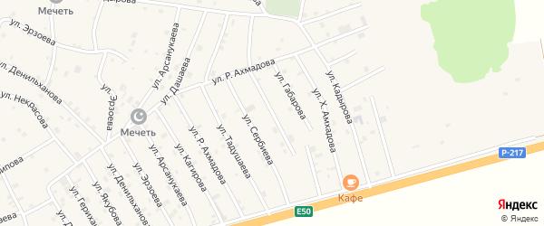 Улица Джанаралиева на карте села Алхан-Юрт с номерами домов