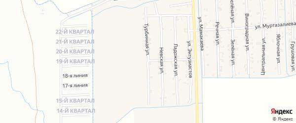 Турбинная улица на карте Садового села с номерами домов