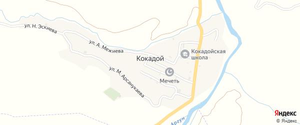 Х.Херахой хутор на карте села Кокадой с номерами домов