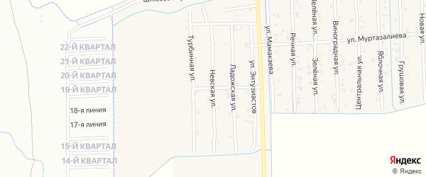 Невская улица на карте Садового села с номерами домов