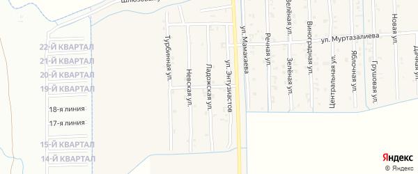 Ладожская улица на карте Садового села с номерами домов