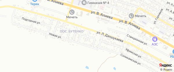 Шефский 2-й переулок на карте Грозного с номерами домов