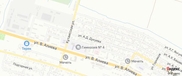 Яблочная улица на карте Грозного с номерами домов