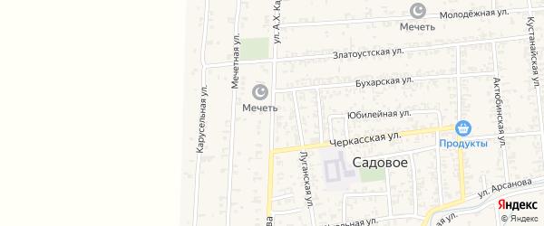 Заветная улица на карте Садового села с номерами домов