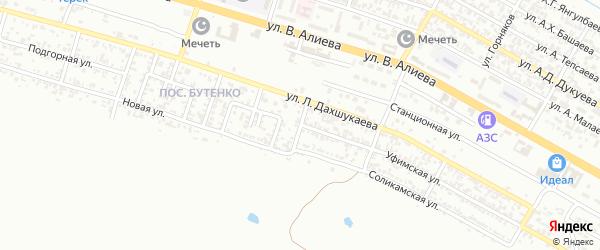 Памирская улица на карте Грозного с номерами домов