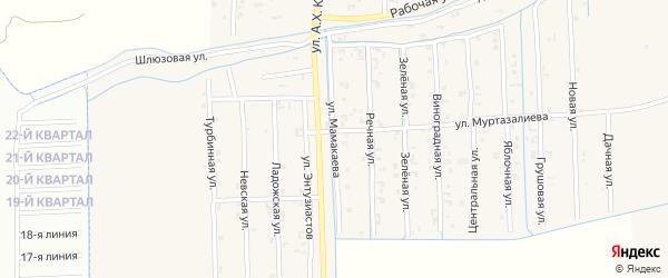 Улица Мамакаева на карте Садового села с номерами домов
