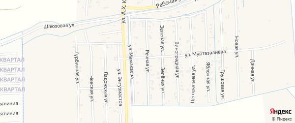 Речная улица на карте Садового села с номерами домов