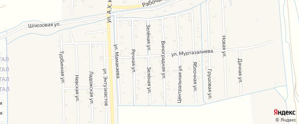Зеленая улица на карте Грозного с номерами домов