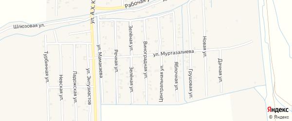 Виноградная улица на карте Садового села с номерами домов