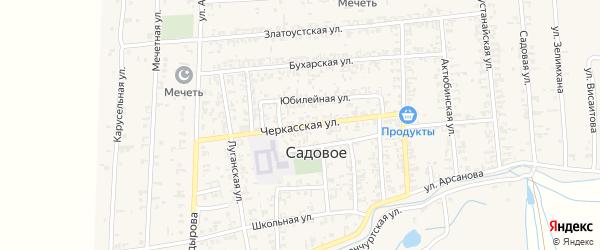 Черкасская улица на карте Садового села с номерами домов