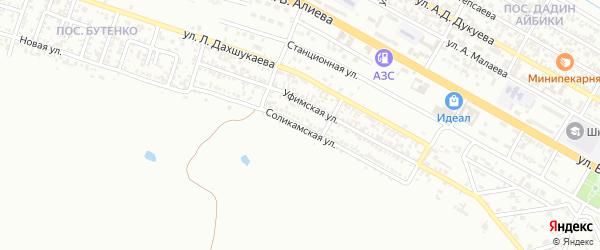 Соликамская улица на карте Грозного с номерами домов