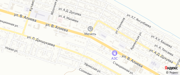 Улица Трудовиков на карте Грозного с номерами домов