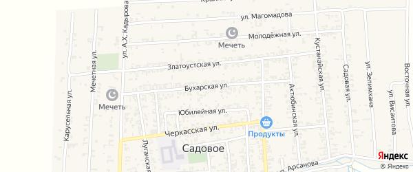 Бухарская улица на карте Садового села с номерами домов