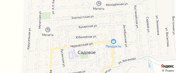 Юбилейная улица на карте Садового села с номерами домов