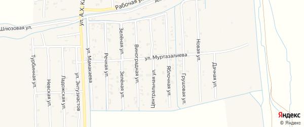Центральная улица на карте Садового села с номерами домов