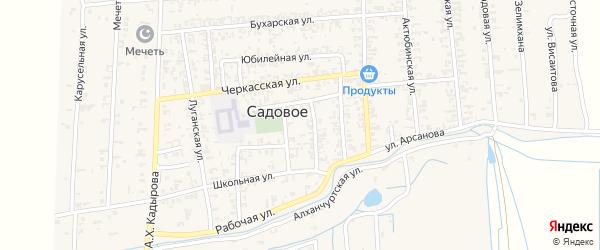 Рабочая улица на карте Садового села с номерами домов