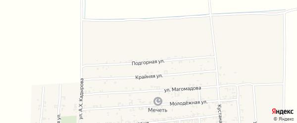 Подгорная улица на карте Садового села с номерами домов
