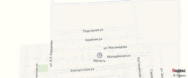 Крайняя улица на карте Садового села с номерами домов