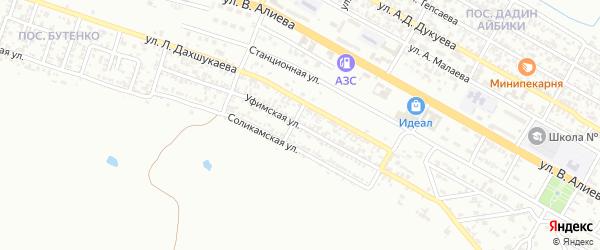 Уфимская улица на карте Грозного с номерами домов